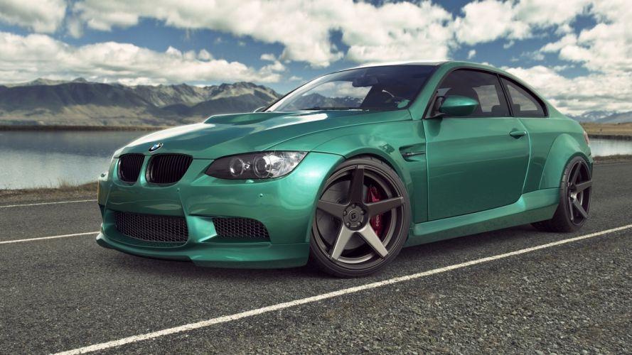 BMW M3 E92 Green Cars wallpaper