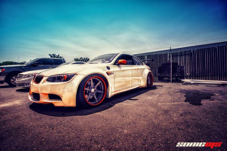 BMW E92 M3 Asphalt HDR White Cars wallpaper