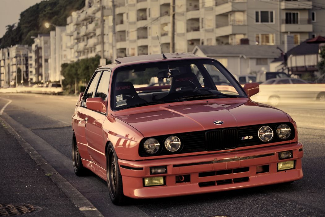 BMW M3 E30 Red Front Headlights Cars wallpaper