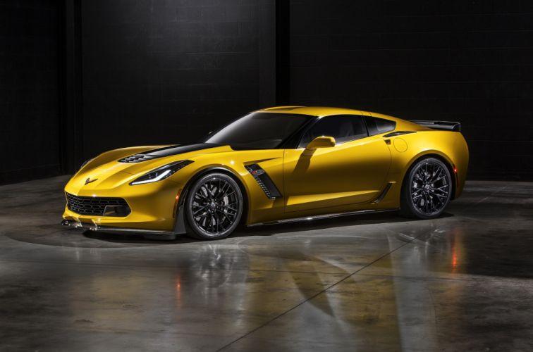 Chevrolet 2015 Corvette Stingray Z06 Yellow Side Metallic Luxury Cars wallpaper