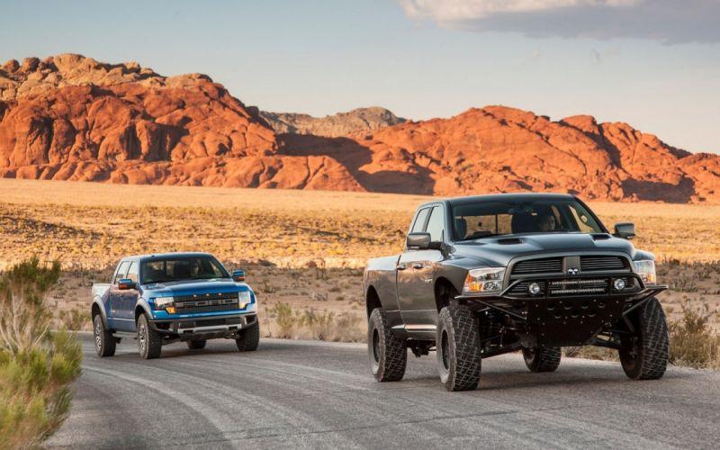 Dodge Ford Mountains Ram Runner Baja SVT 150 Raptor Front Cars wallpaper
