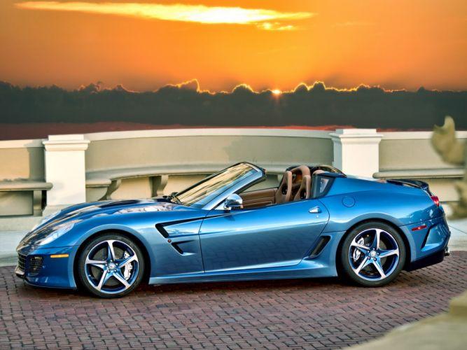 Ferrari Superamerica 45 Side Blue Metallic Cars wallpaper