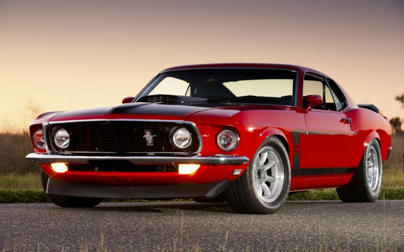 Ford mustang boss 302 Red Cars wallpaper