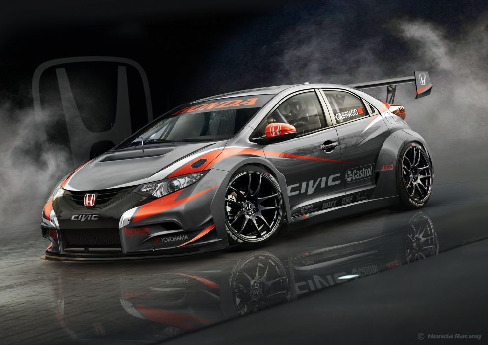 Honda 2014 Civic WTCC Grey Cars wallpaper