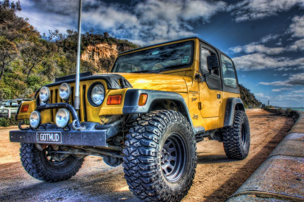 Jeep Wrangler HDR Headlights Cars wallpaper