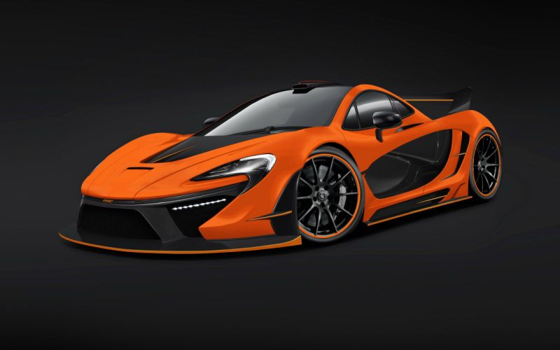 McLaren Tuning 2014 P1 Night Glow Orange Luxury Cars wallpaper