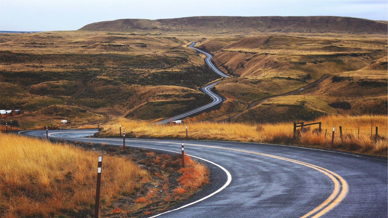 curves endless road tail wallpaper