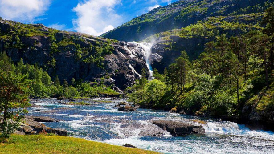 rio rapido naturaleza montay wallpaper
