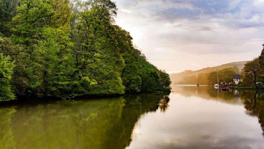 rio naturaleza arboles reino unido thamesis wallpaper