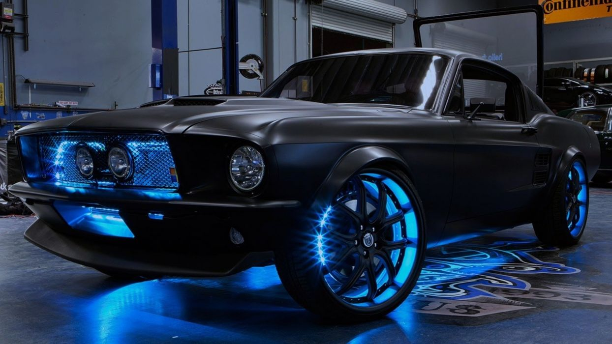 black cars ford mustang west coast customs 1920x1080 wallpaper Vehicles Cars HD tuning 1920x1080 wallpaper