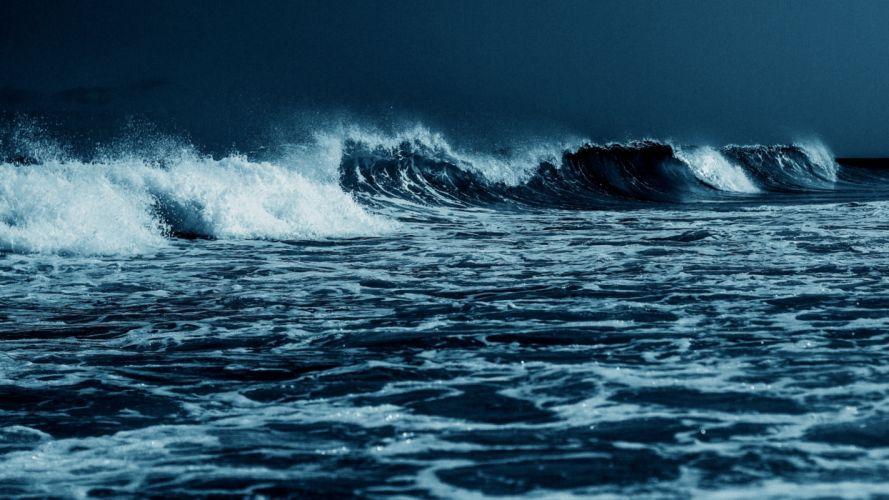 olas mar bravo naturaleza wallpaper