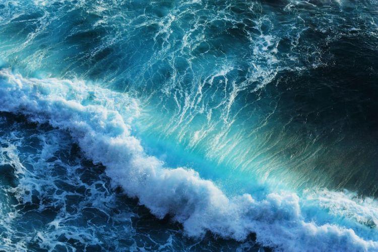 olas bravas mar naturaleza wallpaper