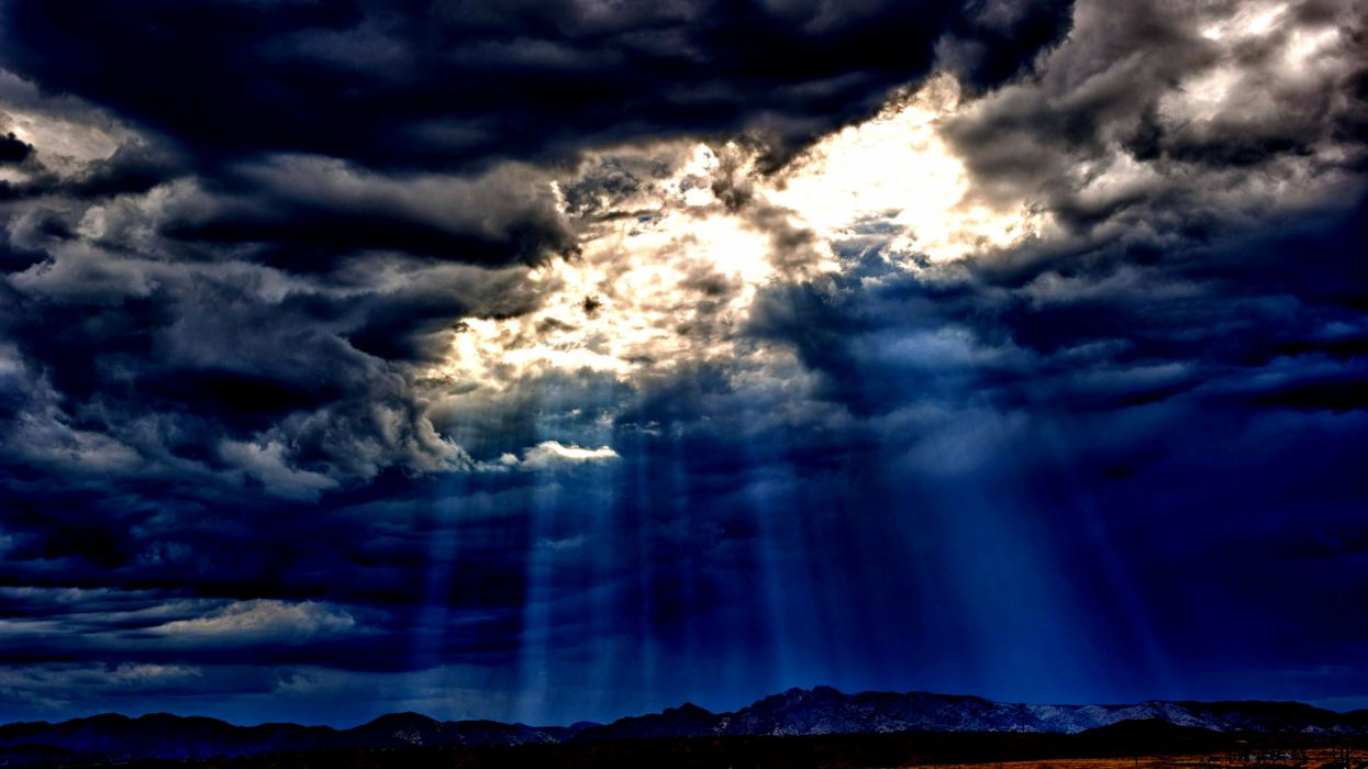 rayos sol nubes cielo naturaleza wallpaper