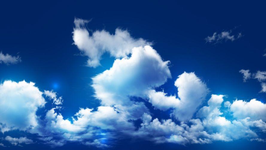 cielo azul nubes naturaleza wallpaper