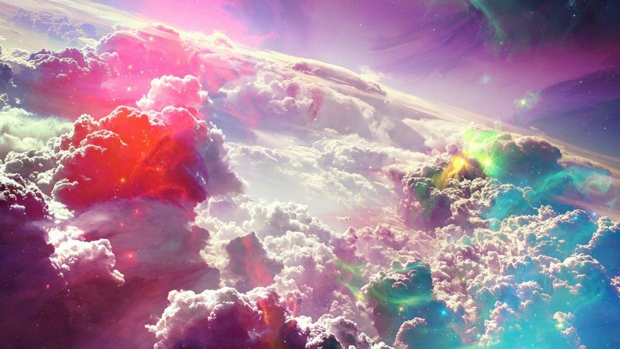 cielo nubes colores tormenta naturaleza wallpaper