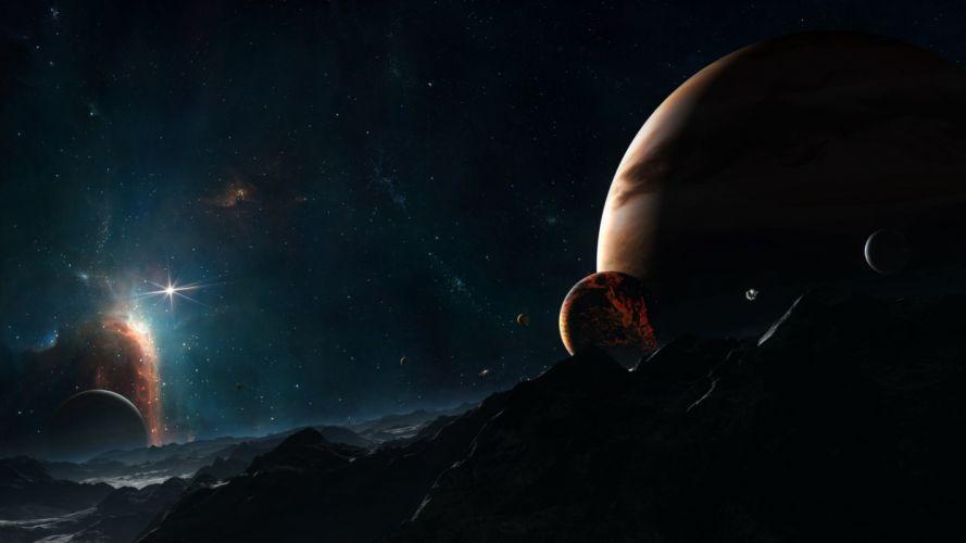 planetas estrellas universo naturaleza wallpaper