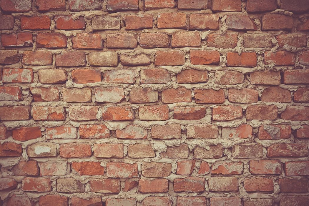 bricks building cement industry pattern red stones texture wall wallpaper