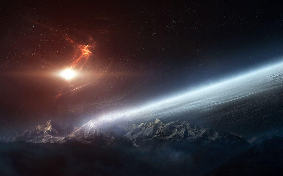 planeta alienigena espacio naturaleza wallpaper