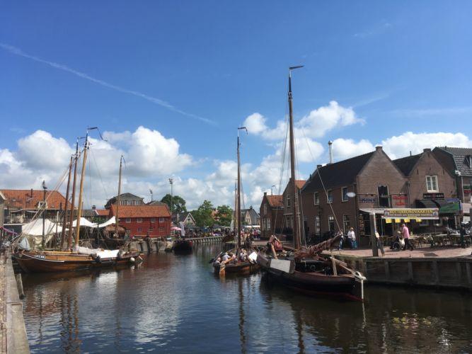 Spakenburg Netherlands Harbour Botter Flatbottom Fishingboat wallpaper