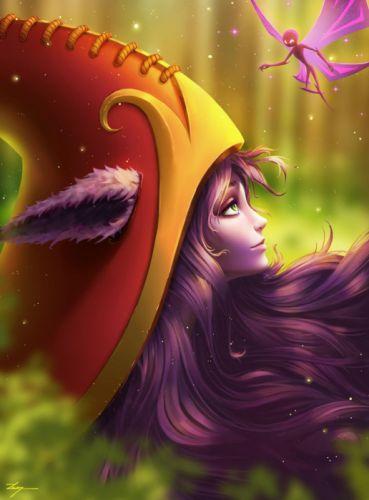 lulu lol League of Legends riotgames fanart the fae sorceress purple pixie champion art drawing digital art artist on tumblr pretty portait girl wallpaper