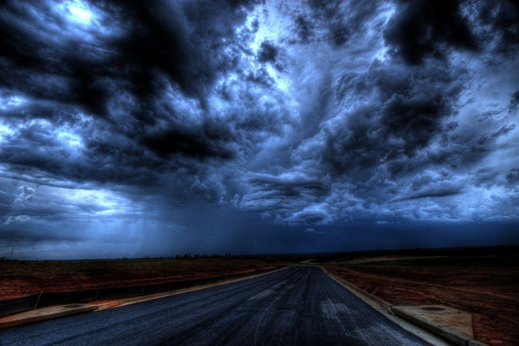 clouds dark dark clouds darkness evening horizon landscape nature night roads scenic silhouette sky twilight weather wallpaper