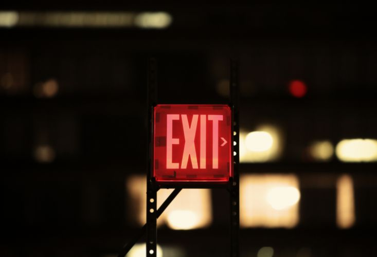 exit red sign wallpaper