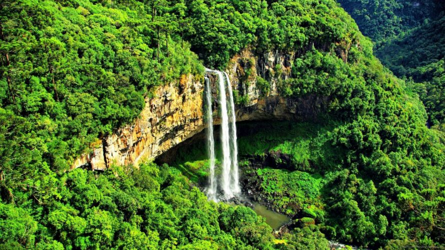catarata selva brasil naturaleza wallpaper