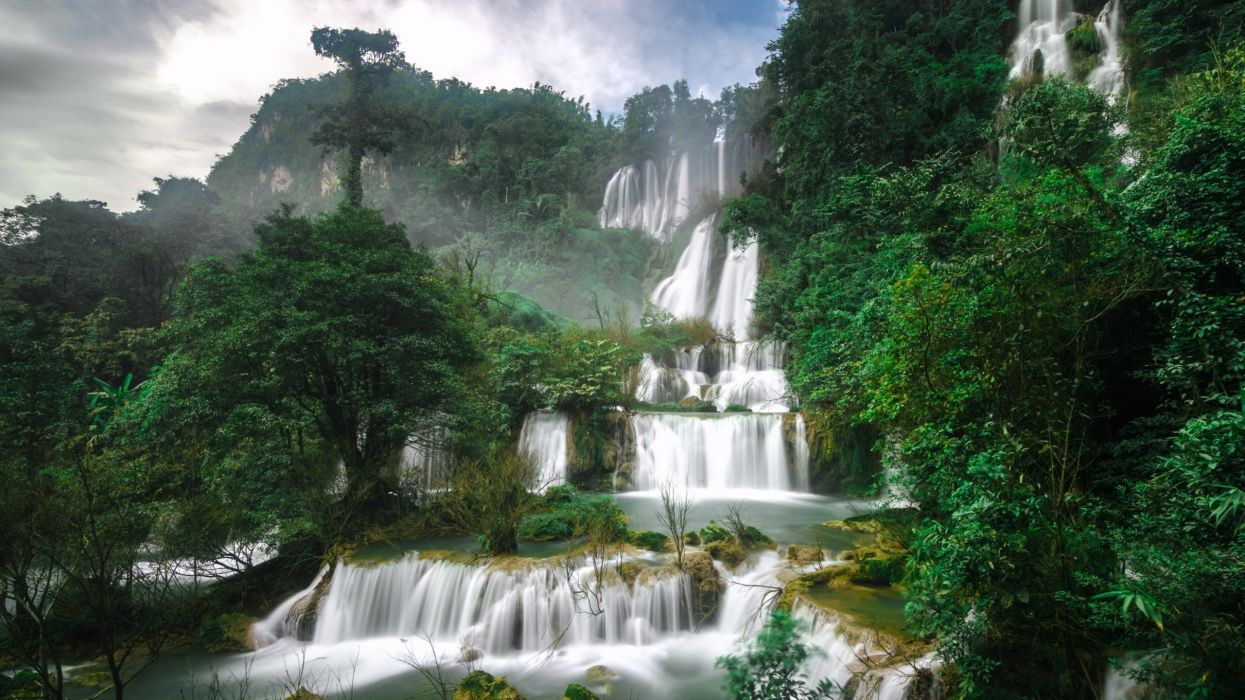 cataratas selva montay wallpaper