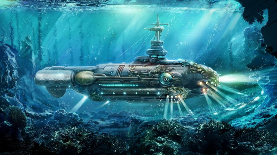 Steampunk Submarine Nautilus wallpaper