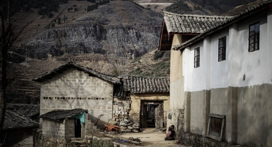 abandoned ancient architecture black and white building countryside family home house landscape mountain old outdoors roof rural rustic tourism town traditional travel unoccupied valley village wood wallpaper