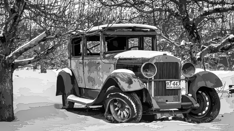 Retro Old Snow Cars 2048x1366Ai005pb-00-2048H wallpaper
