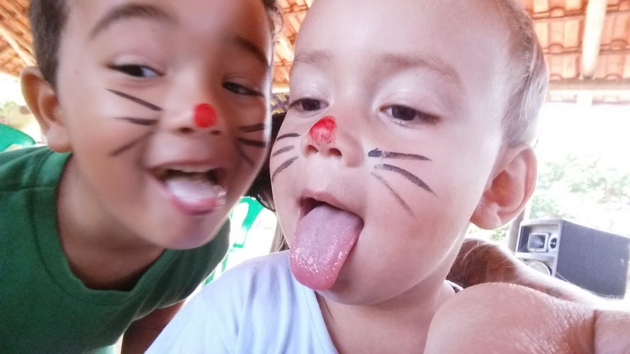Face kids mouth lips tongue rabbit wallpaper