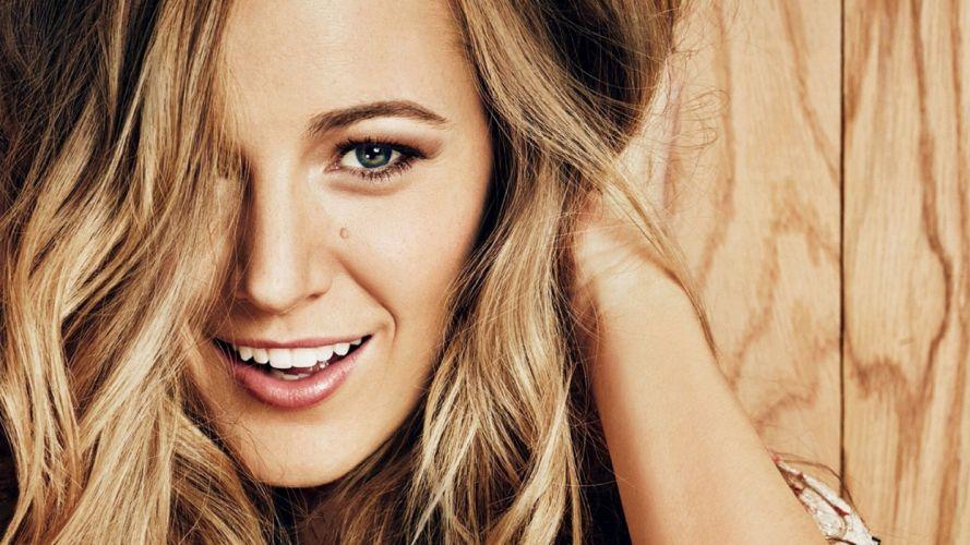 Face sensuality sensual sexy woman girl Blake-Lively mouth lips teeth lipstick actress smile wallpaper