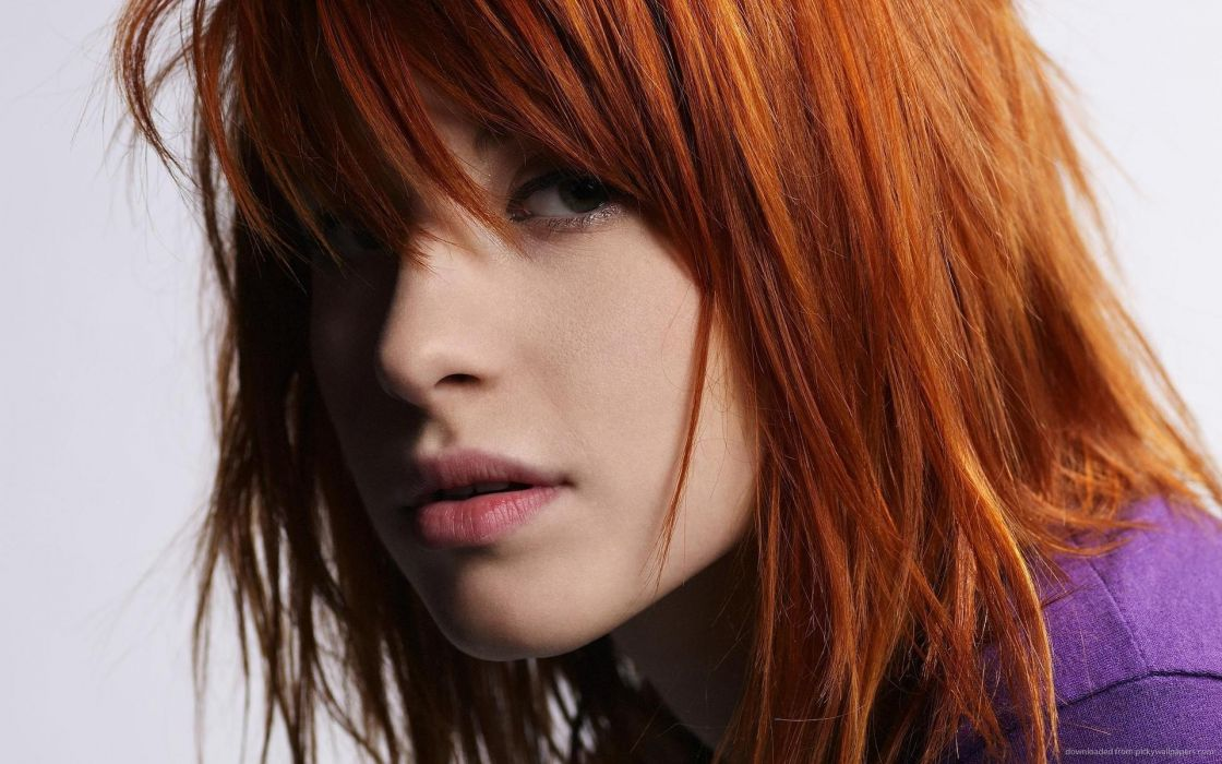 Face sensuality sensual sexy woman girl Hayley-Williams mouth lips lipstick redhead wallpaper