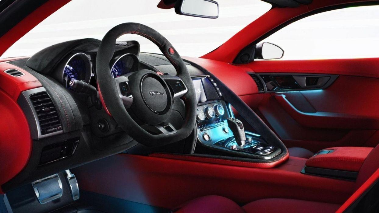 Machine car jaguar c-x16 concept interior wallpaper