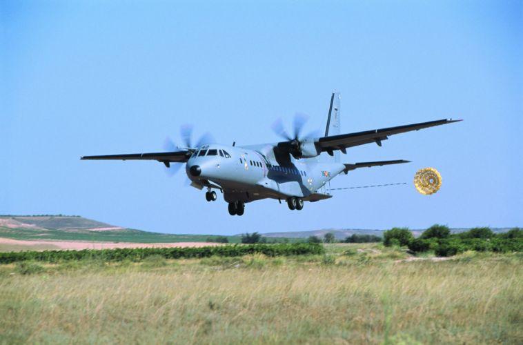 avion hercules militar paracaidas wallpaper