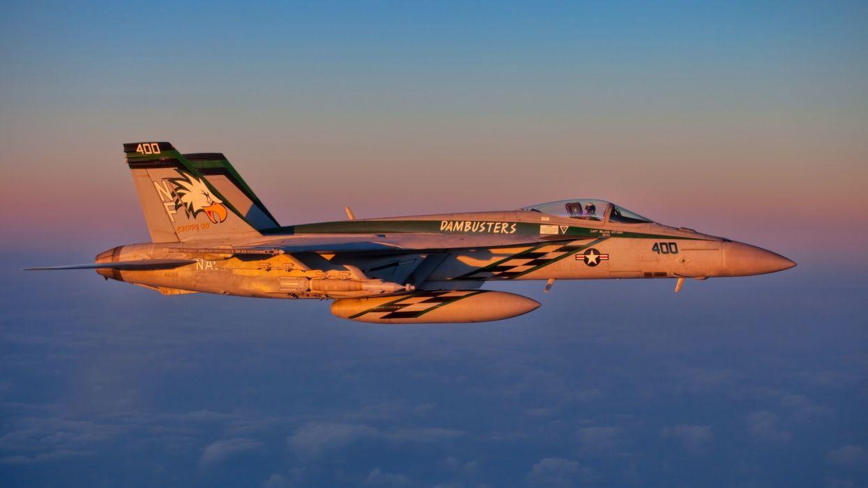 fa 18e jet fighter militar avion wallpaper