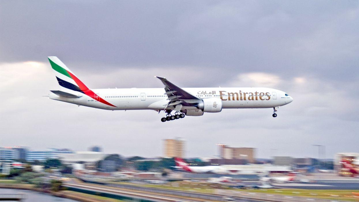 emirates boeing avion comercial wallpaper