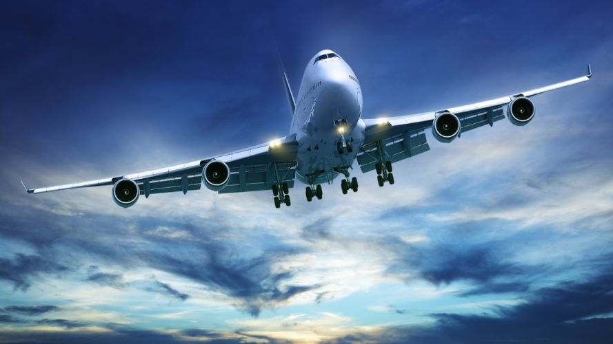 Boeing 747 avion comercial wallpaper