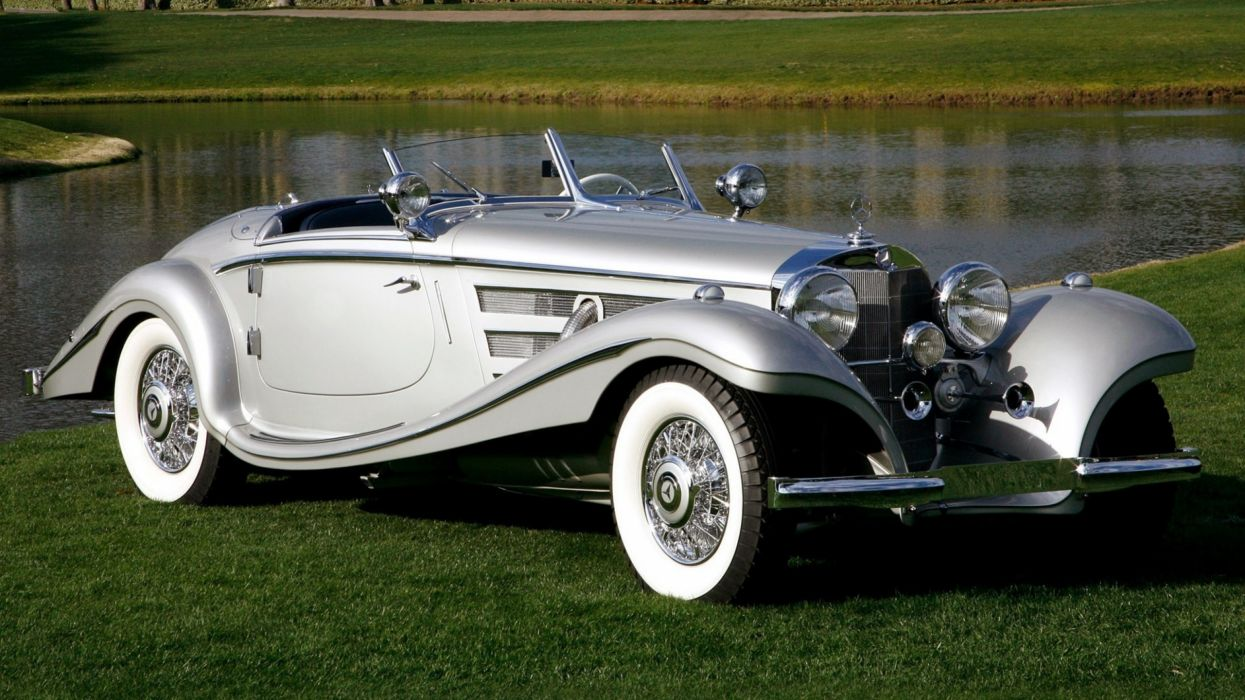 coche clasico mercedes benz aleman gris wallpaper
