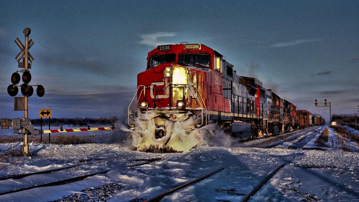 tren electrico nieve invierno wallpaper