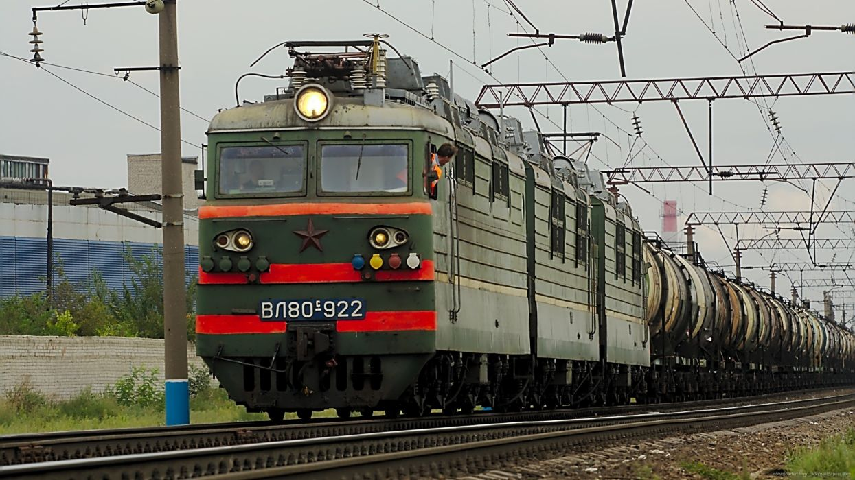 rusia cargo tren electrico wallpaper