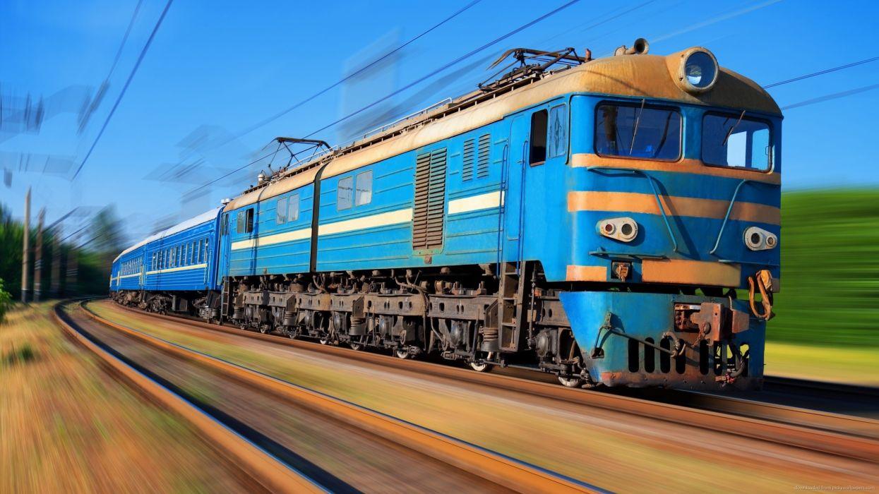 rusia electrico tren azul ferrocarril wallpaper
