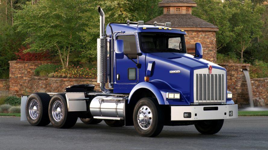 Kenwort camion trailer azul wallpaper