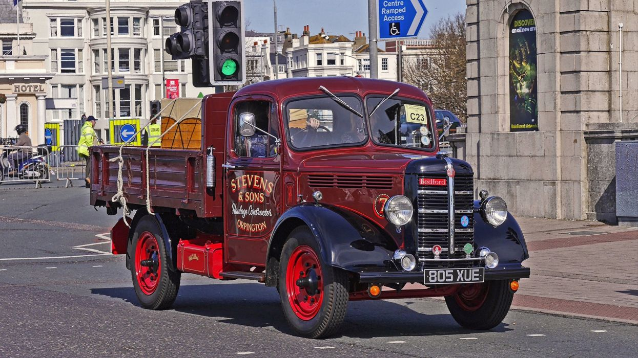 1948 Bedford K antiguo camion britanico wallpaper