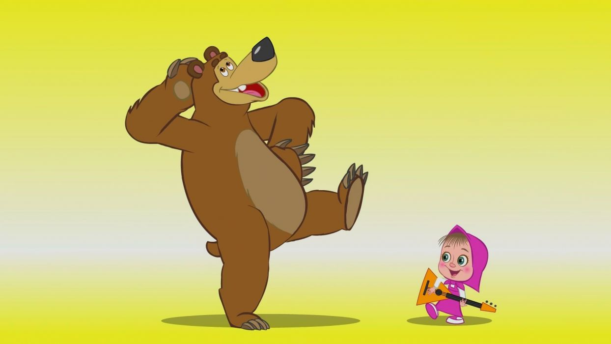 Masha and the Bear Cartoon wallpaper