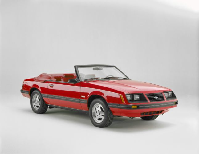 Ford Mustang GLX Convertible 1983 wallpaper
