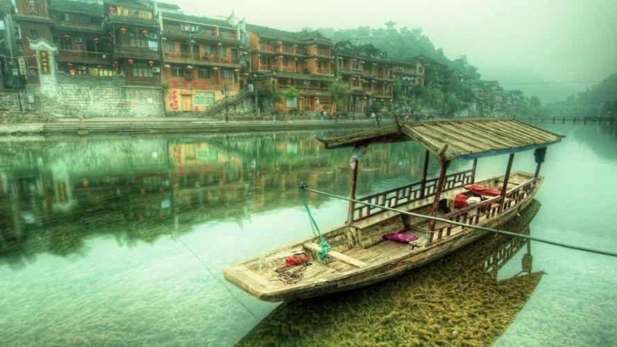 embarcacion china cubierta wallpaper