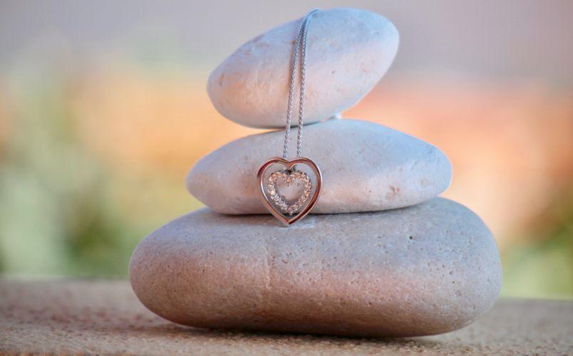 accessory balance blur close-up design diamonds fashion harmony health heart jewelry love luxury meditation necklace ornament relaxation sea silver stones therapy thread treatment zen wallpaper