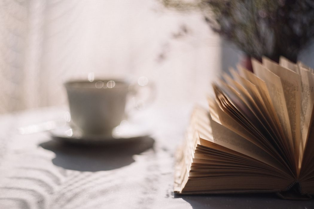 book coffee cup knowledge literature macro mug pages papers table wallpaper